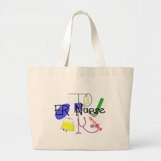 ER Nurse Medical Equipment Design Large Tote Bag