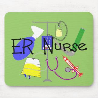ER Nurse Medical Equipment Design Mouse Pad