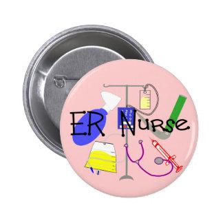 ER Nurse Medical Equipment Design Pinback Button