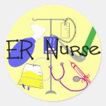 ER Nurse Medical Equipment Design Stickers