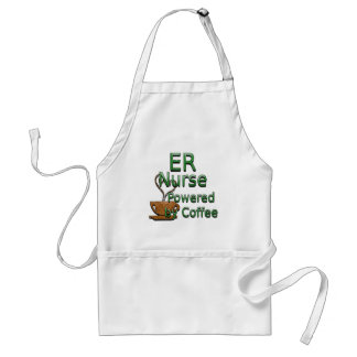 ER Nurse Powered By Coffee Adult Apron