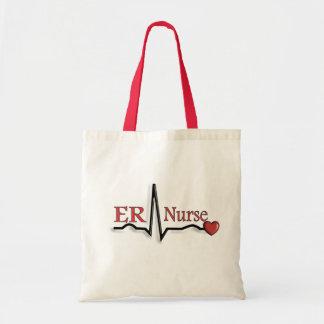 ER Nurse QRS Design Budget Tote Bag