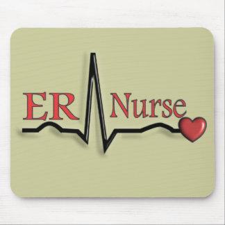 ER Nurse QRS Design Mouse Pad