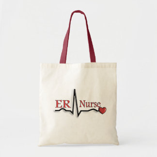 ER Nurse QRS Design Tote Bag