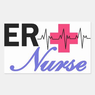 ER Nurse Rectangular Sticker