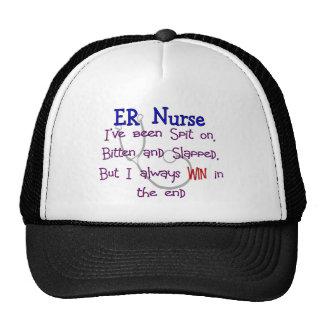 """ER Nurse """"SPIT ON BITTEN  and SLAPPED"""" Trucker Hat"""