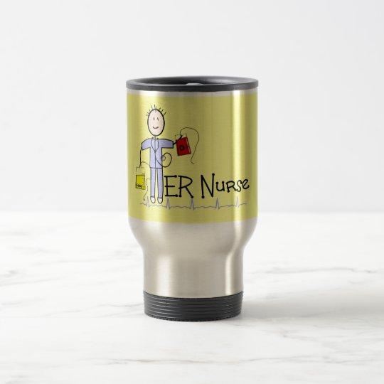 ER Nurse Stickman Travel Mug