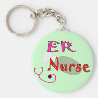 ER Nurse T-shirts & Gifts Basic Round Button Keychain