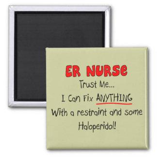 "ER Nurse ""Trust Me"" Funny T-Shirts & Gifts Magnets"