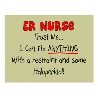 """ER Nurse """"Trust Me"""" Funny T-Shirts & Gifts Post Cards"""
