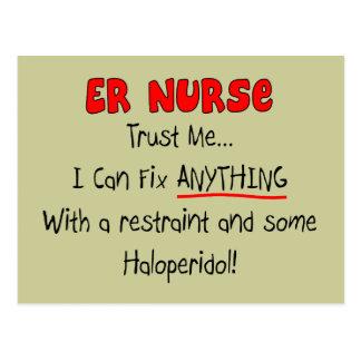 "ER Nurse ""Trust Me"" Funny T-Shirts & Gifts Postcard"