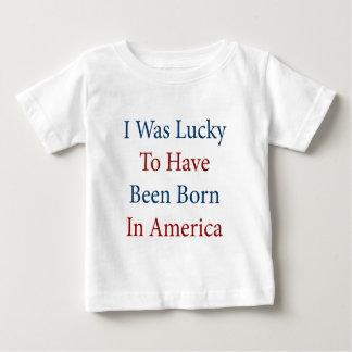 Era afortunado haber nacido en América Remeras