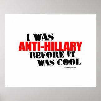 Era Anti-Hillary antes de que fuera fresco - H Póster
