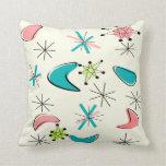 Era atómica inspirada mediados de siglo del diseño almohada