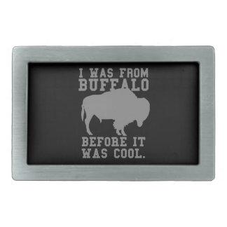 Era búfalo antes de que fuera fresco hebillas cinturón rectangulares