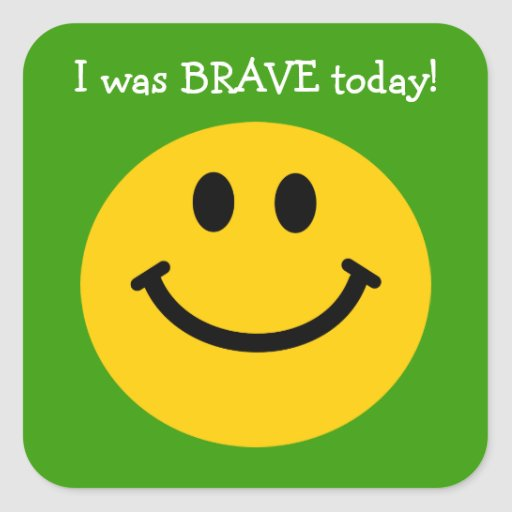 Era cara sonriente del amarillo valiente del hoy e calcomanías cuadradases