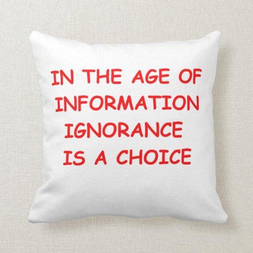 era de la información almohadas
