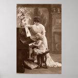 Era del Victorian - la lección de piano Posters