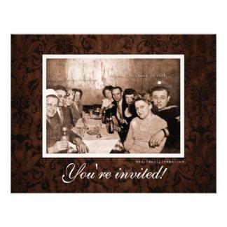 Era del vintage WWII que recolecta la reunión Comunicado Personalizado