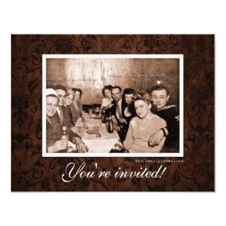"""Era del vintage WWII que recolecta la reunión Invitación 4.25"""" X 5.5"""""""