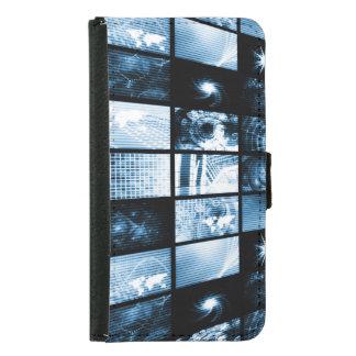 Era digital futurista TV y fondo de los canales