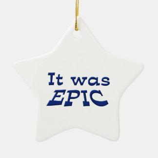 Era épico adorno de cerámica en forma de estrella