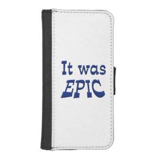 Era épico fundas billetera de iPhone 5