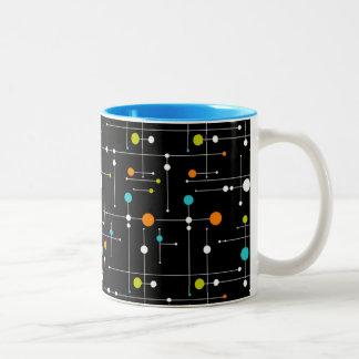 Era espacial retra 11 onzas atómica del negro del taza de dos tonos