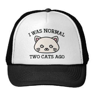 Era hace dos gatos normales gorra