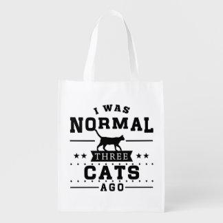 Era hace tres gatos normales bolsa de la compra
