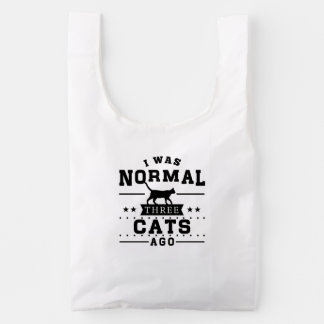 Era hace tres gatos normales bolsa reutilizable