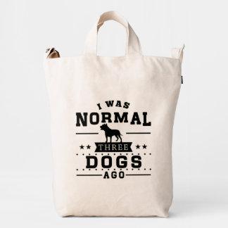 Era hace tres perros normales bolsa de lona duck