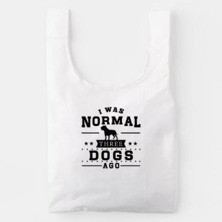 Era hace tres perros normales bolsa reutilizable
