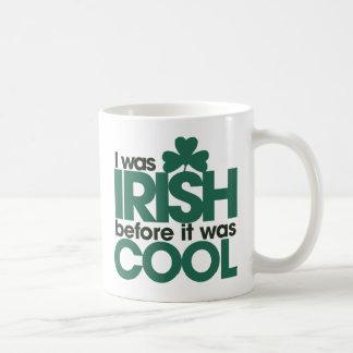 Era irlandés antes de que fuera fresco taza de café