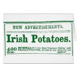 Era irlandesa de la guerra civil del anuncio de pe tarjeta