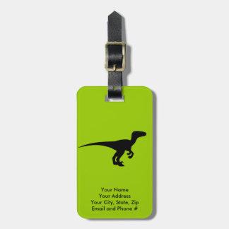 Era jurásica del esquema del dinosaurio etiquetas de maletas