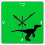 Era jurásica del esquema del dinosaurio reloj