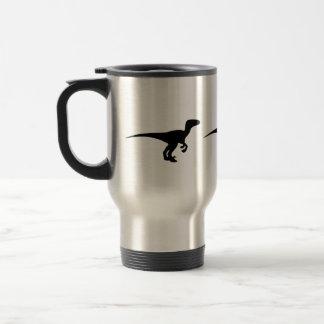 Era jurásica del esquema del dinosaurio taza de café