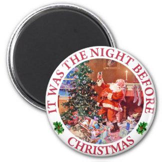 Era la noche antes de navidad imanes