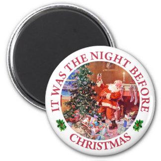 Era la noche antes de navidad imán de frigorifico