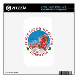 Era la noche antes de navidad iPod touch 4G calcomanía