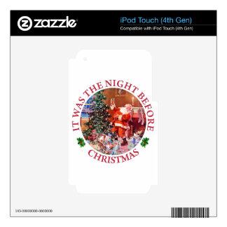 Era la noche antes de navidad iPod touch 4G calcomanías