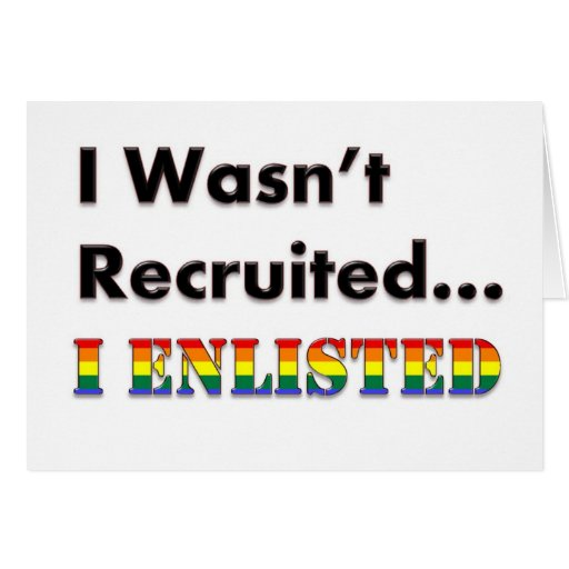 Era no reclutado… yo alisté tarjeta de felicitación