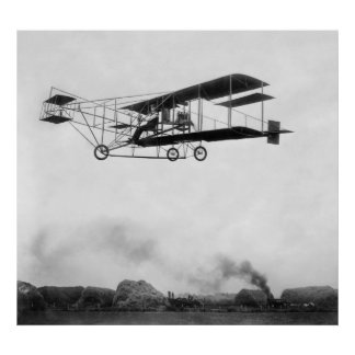 ERA of TECHNOLOGY - PLANE and STEAM - 1909 Poster