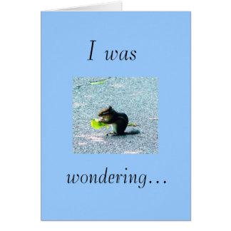 Era, preguntándose… tarjeta de felicitación