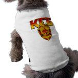 Era rusa del soviet de la insignia de KGB Playera Sin Mangas Para Perro