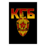 Era rusa del soviet de la insignia de KGB Poster