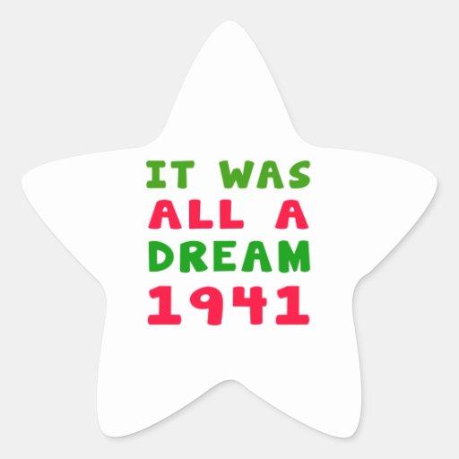 Era todo el un 1941 ideal calcomanía forma de estrella personalizadas