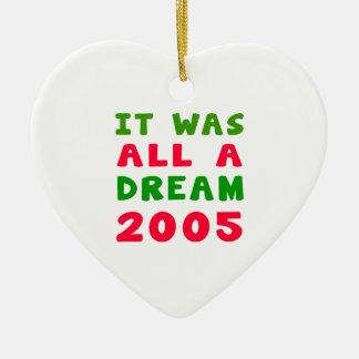 Era todo el un 2005 ideal adorno de cerámica en forma de corazón