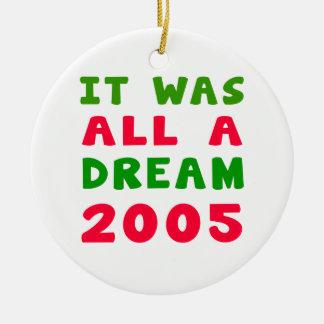 Era todo el un 2005 ideal adorno redondo de cerámica